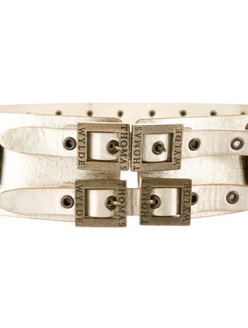 Wide Buckle Embellished Belt