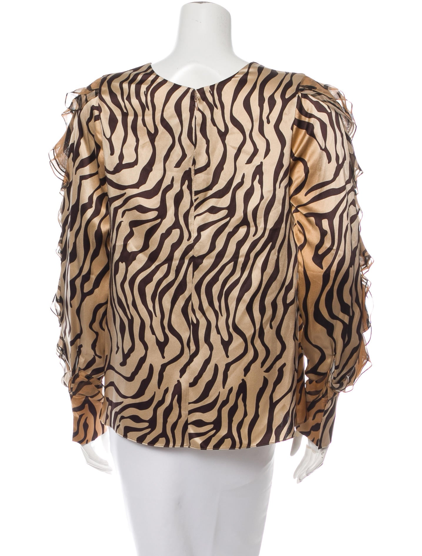 Thomas Wylde Silk Tiger Print Blouse Clothing Thm23752