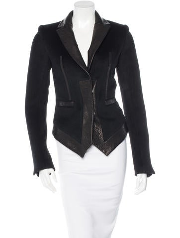Thomas Wylde Angora & Wool-Blend Jacket w/ Tags