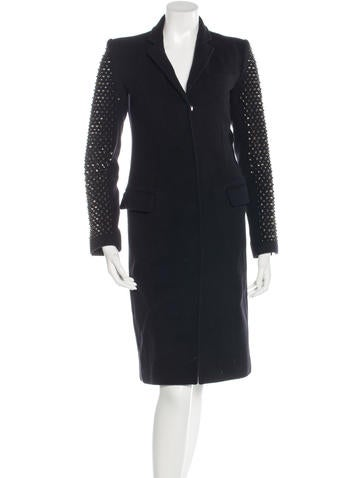 Thomas Wylde Embellished Long Coat