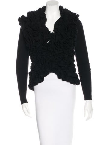 Thomas Wylde Ruffled Cashmere Sweater w/ Tags None