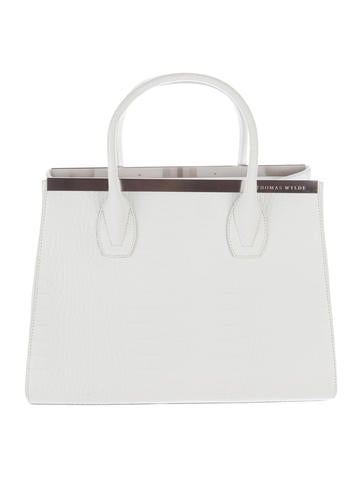 Embossed Crocodile Effect Tote
