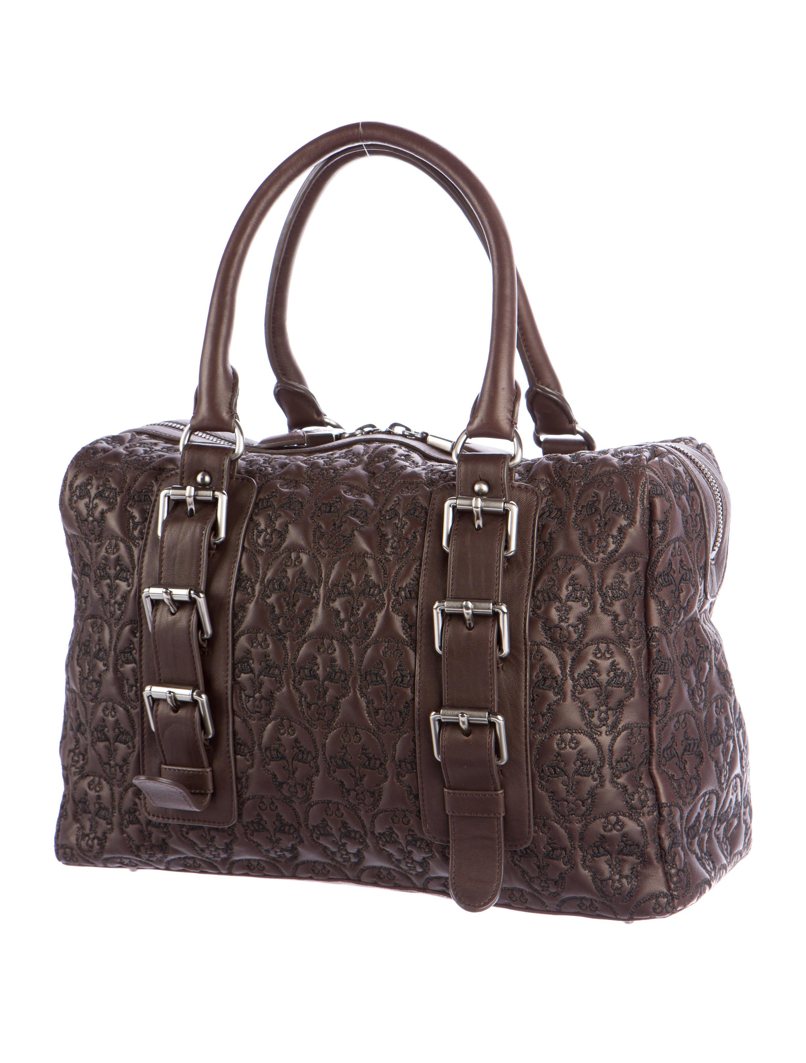9070106662cf Thomas Wylde Skull-Embroidered Leather Handle Bag - Handbags ...