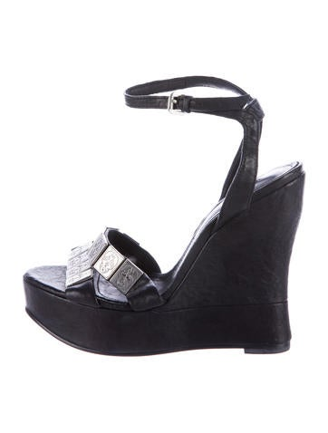 Thomas Wylde Skull Embellished Wedges