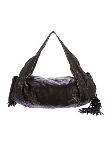 Thomas Wylde Tassel-Accented Leather Hobo