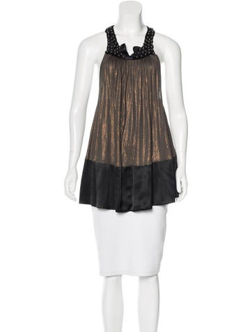 Thomas Wylde Hardware-Embellished Metallic Top None