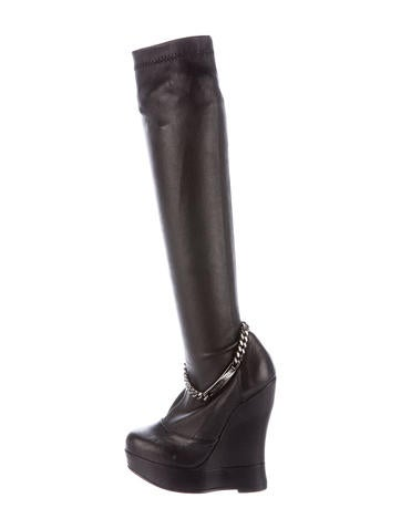 Thomas Wylde Leather Chain-Link Boots None