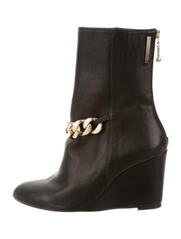 Thomas Wylde Chain-Link Wedge Ankle Boots