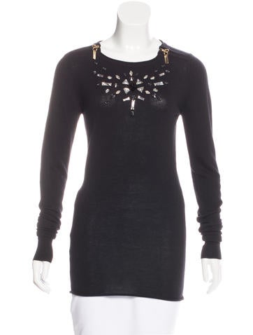Thomas Wylde Cashmere Embellished Sweater None