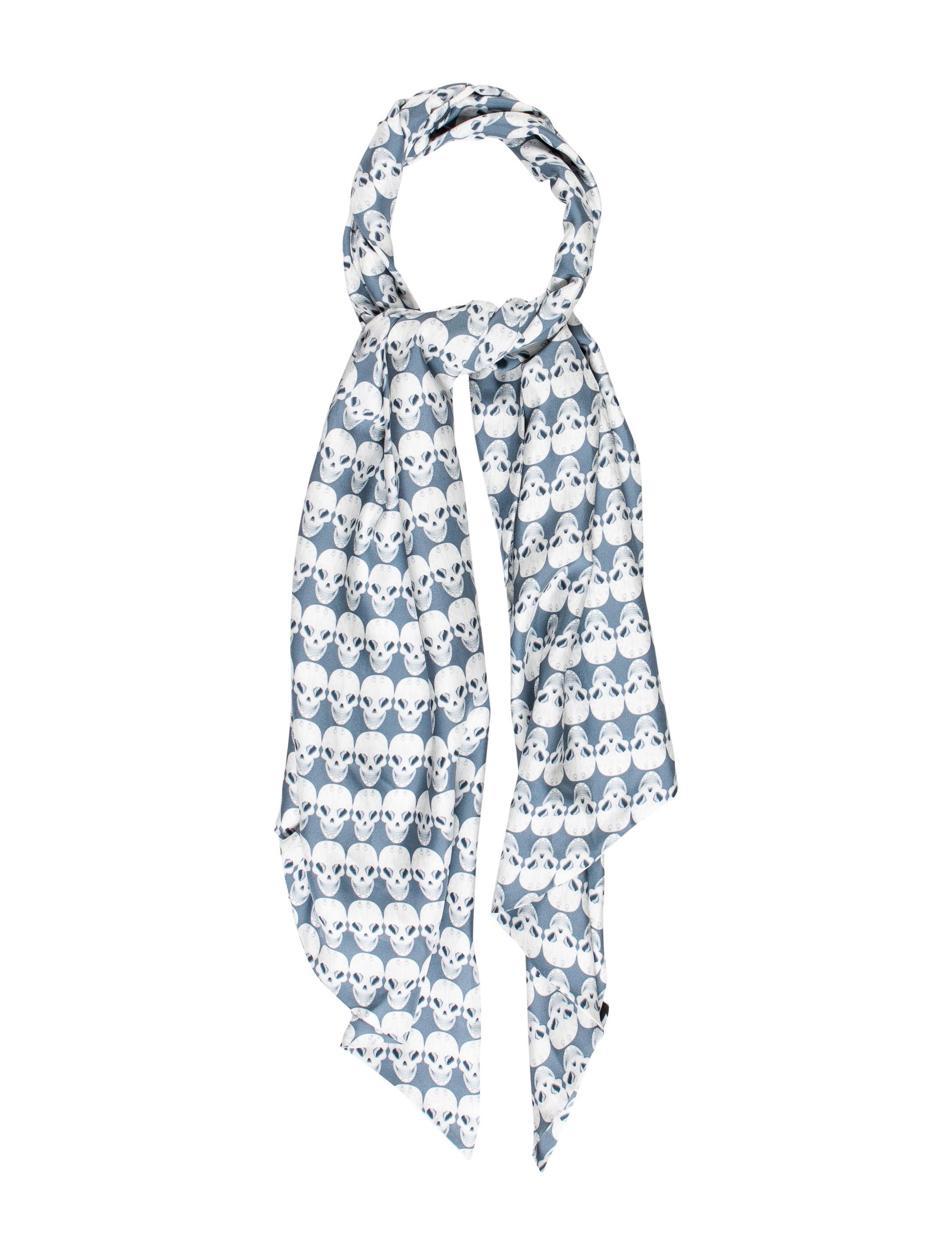 wylde skull print lightweight scarf accessories