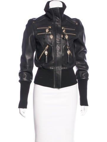 Thomas Wylde Lambskin Leather Bomber Jacket - Clothing - THM26428