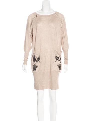 Thomas Wylde Embellished Cashmere Dress w/ Tags None