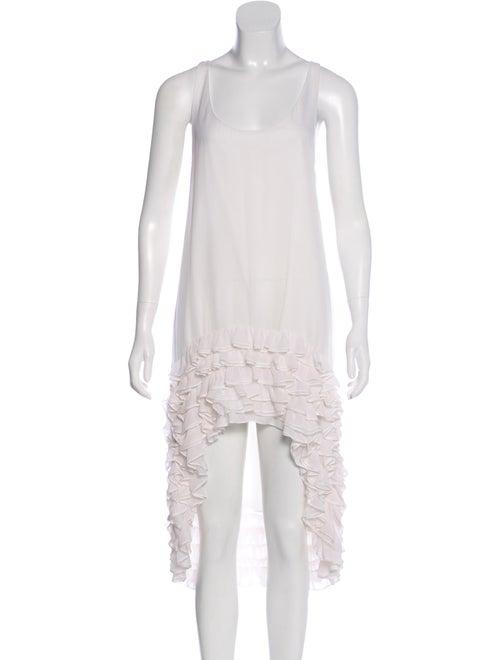 Thomas Wylde Sleeveless Midi Dress White