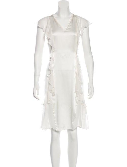 Thomas Wylde Studded Silk Dress White