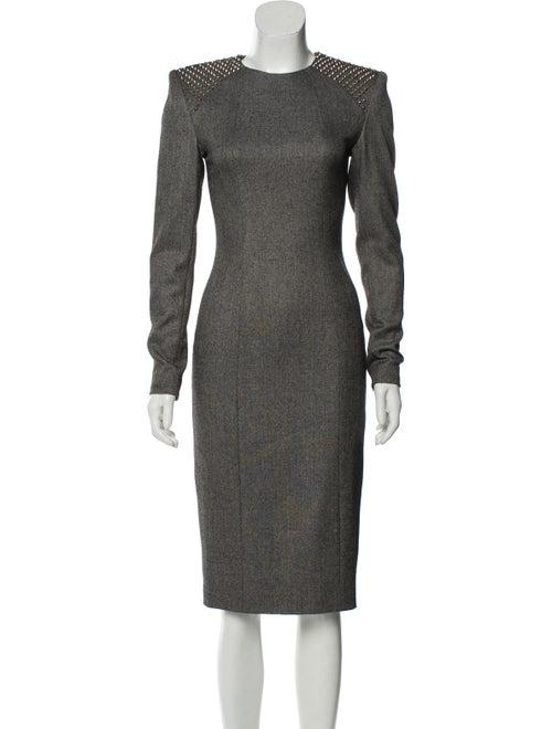 Thomas Wylde Studded Midi Dress Grey