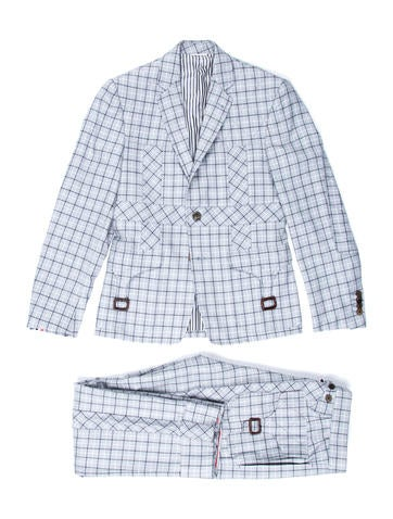 Windowpane Two-Piece Suit