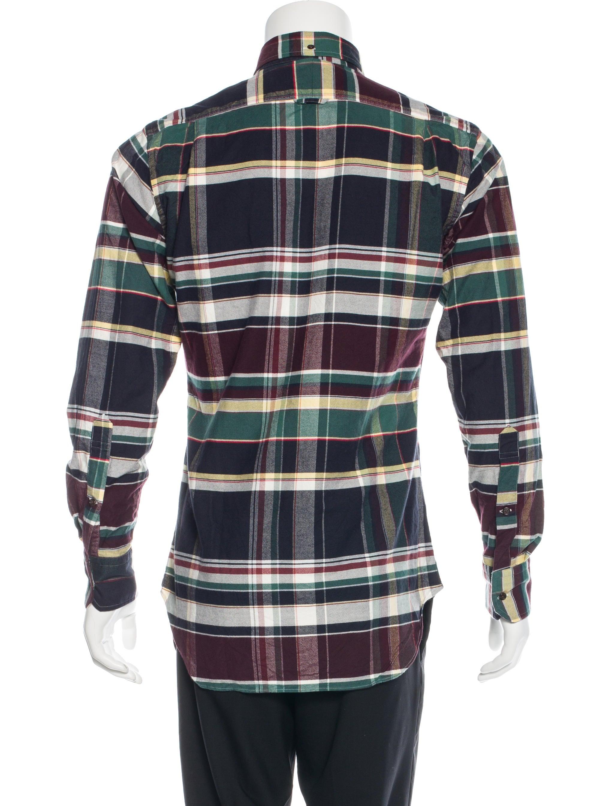 Thom browne madras plaid woven shirt clothing tho21144 for Mens madras shirt sale