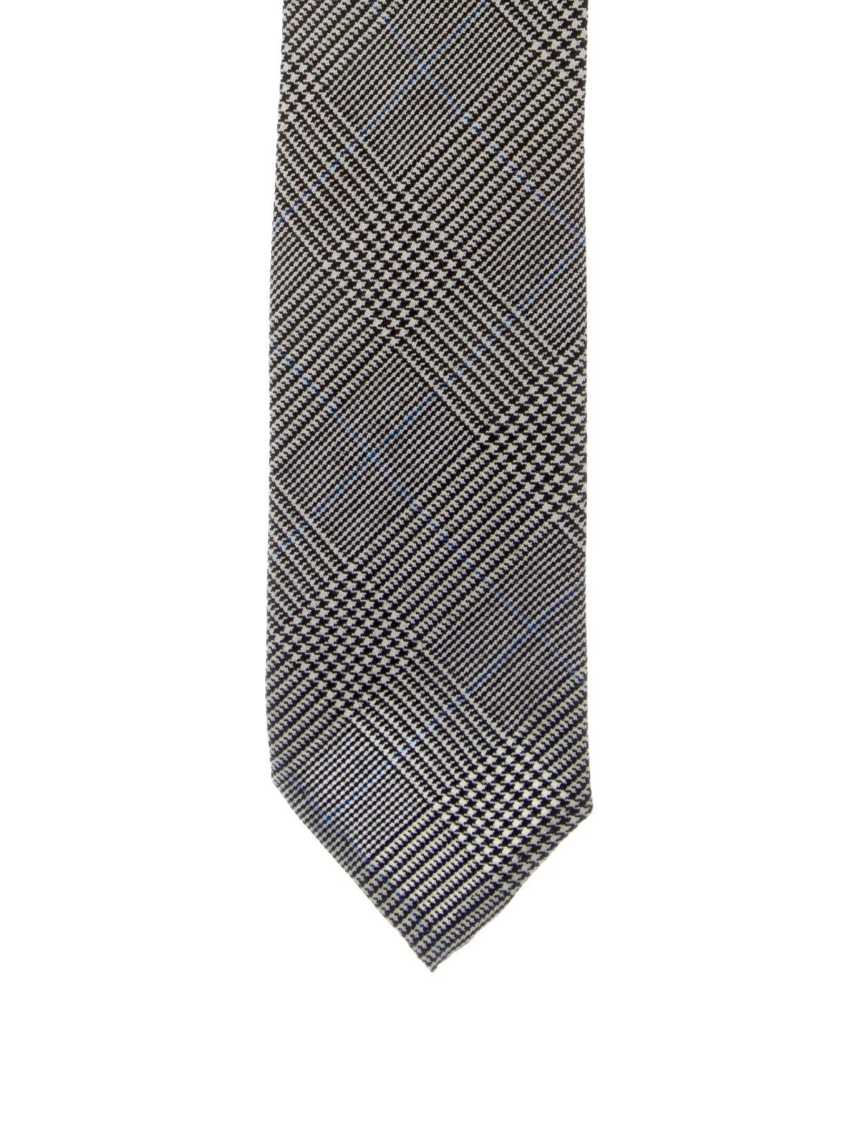 thom browne glen plaid wool tie suiting accessories