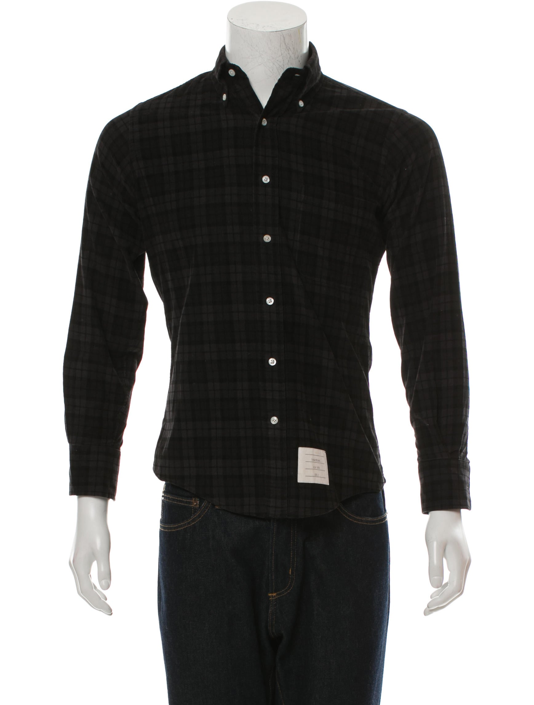 thom browne corduroy button down shirt clothing