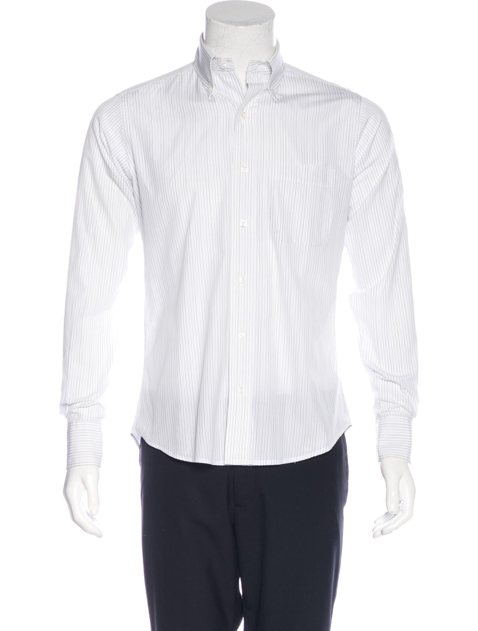 Thom browne striped poplin shirt clothing tho21544 for Thom browne shirt sale