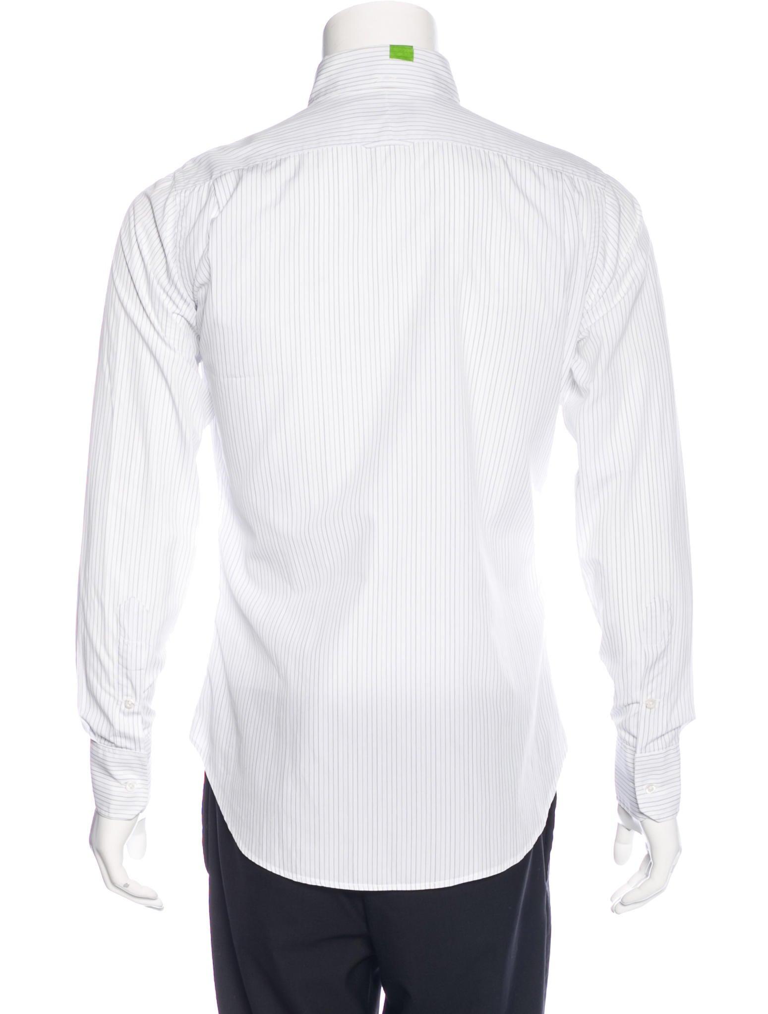 Thom browne striped poplin shirt clothing tho21544 for Thom browne white shirt