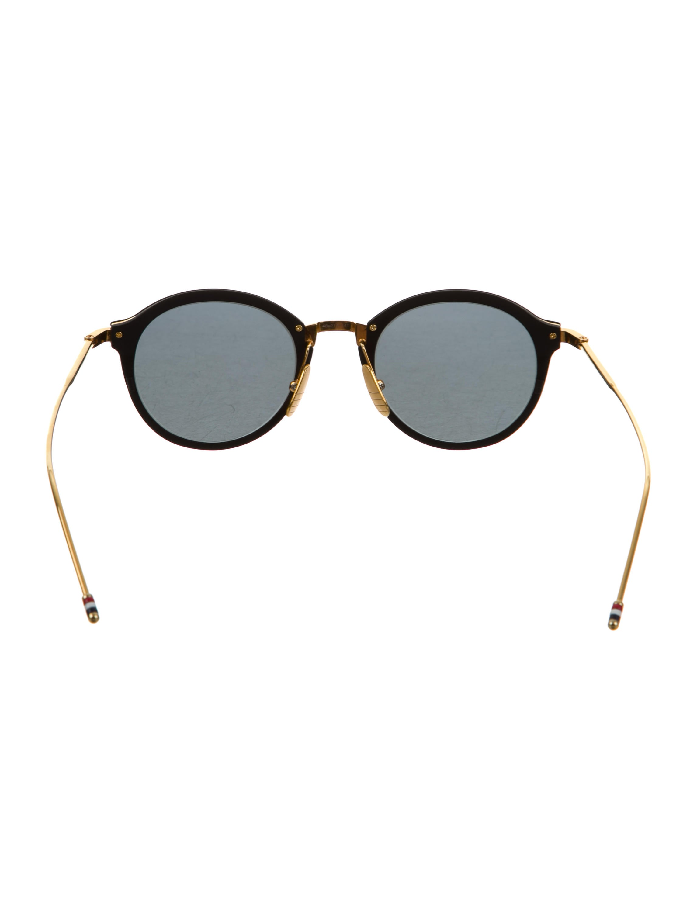 Round Gold Frame Sunglasses By Thom Browne : Thom Browne TB-110 Round Sunglasses - Accessories ...