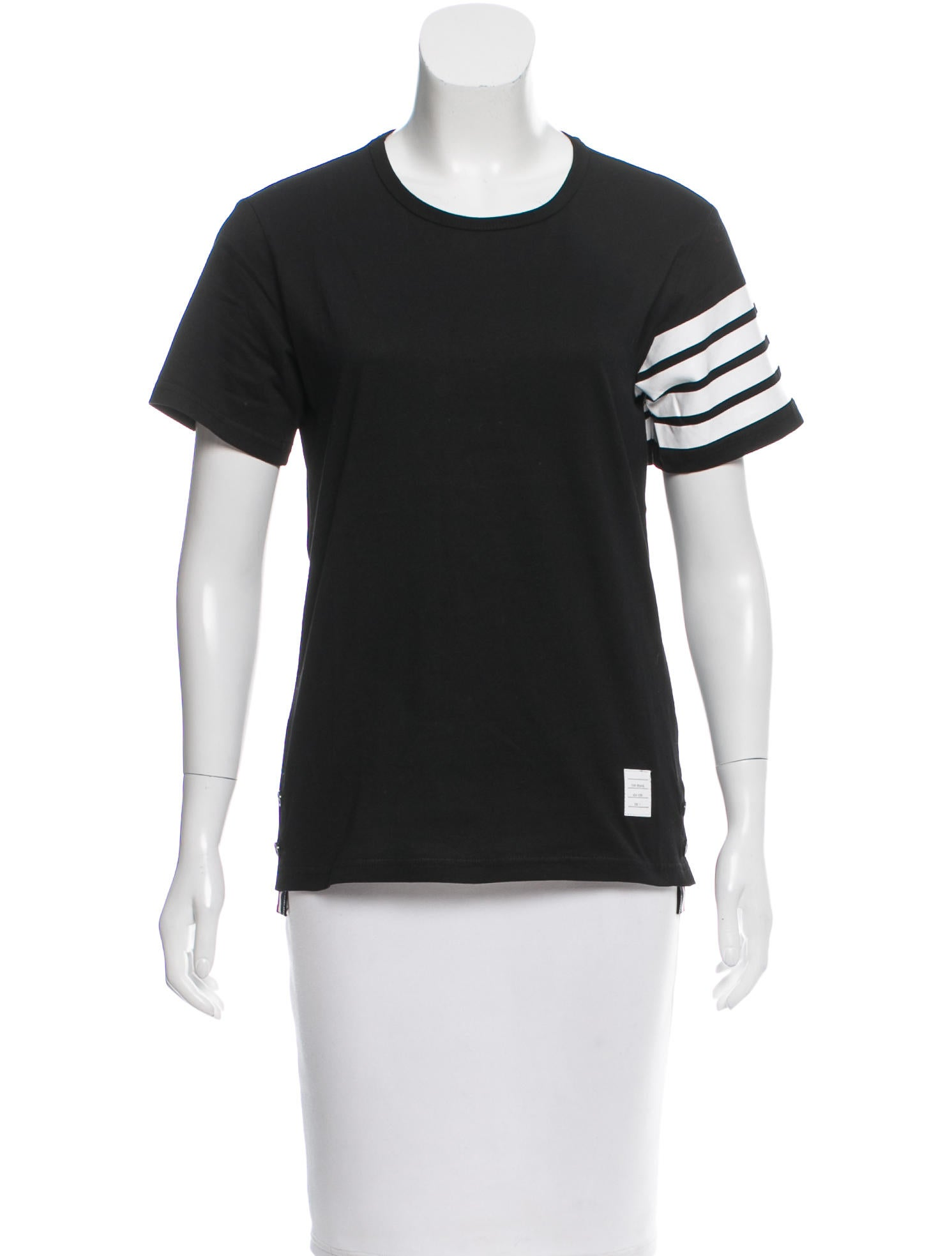 Thom browne short sleeve crew neck t shirt clothing for Thom browne t shirt