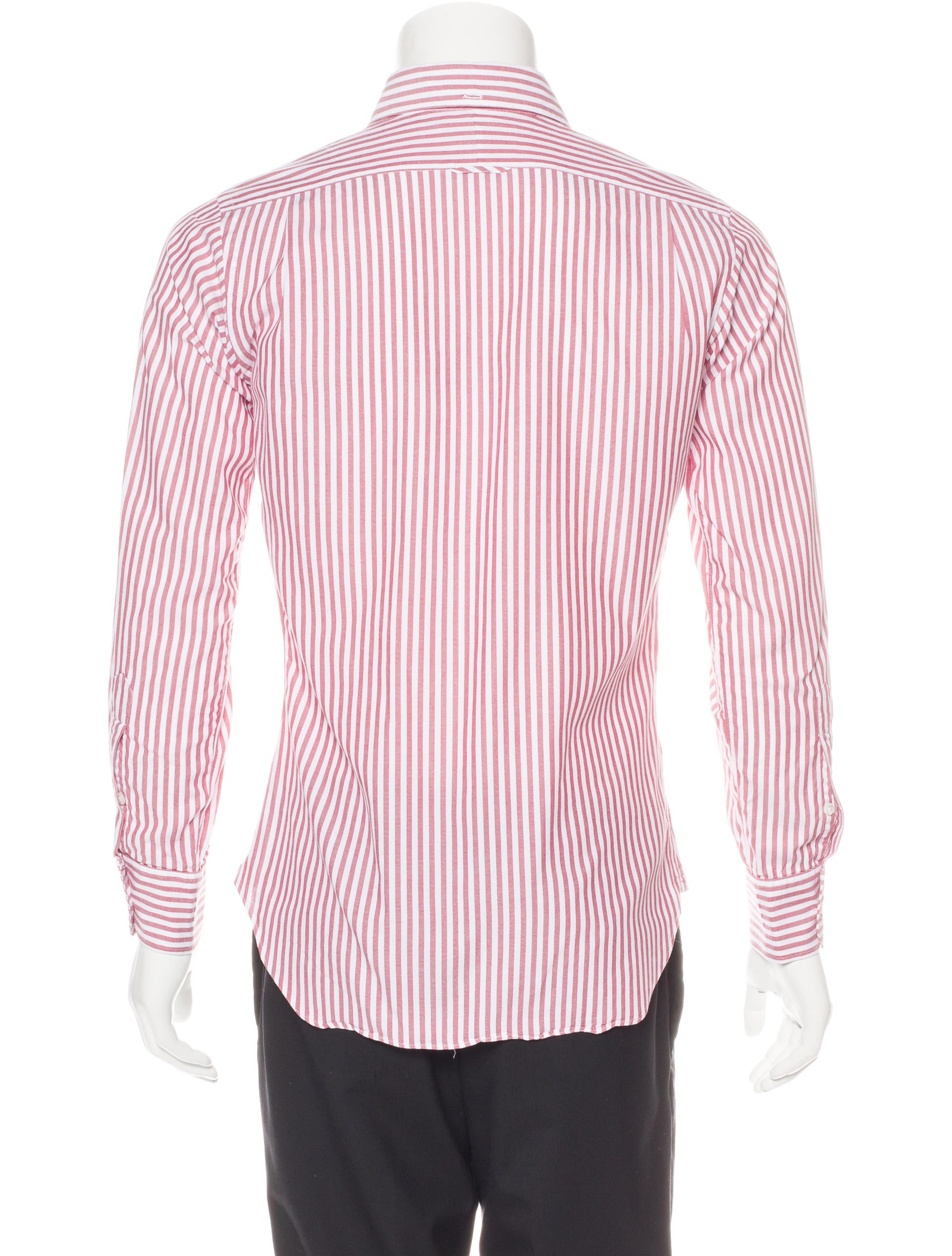 Thom browne striped woven shirt clothing tho21706 for Thom browne shirt sale
