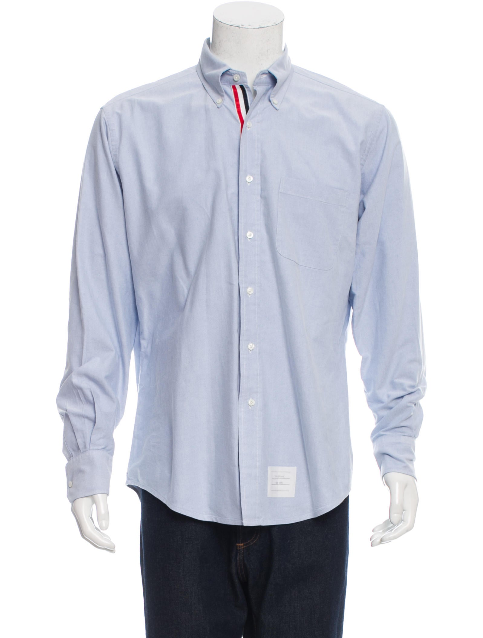 Thom browne woven button up shirt clothing tho21721 for Thom browne shirt sale