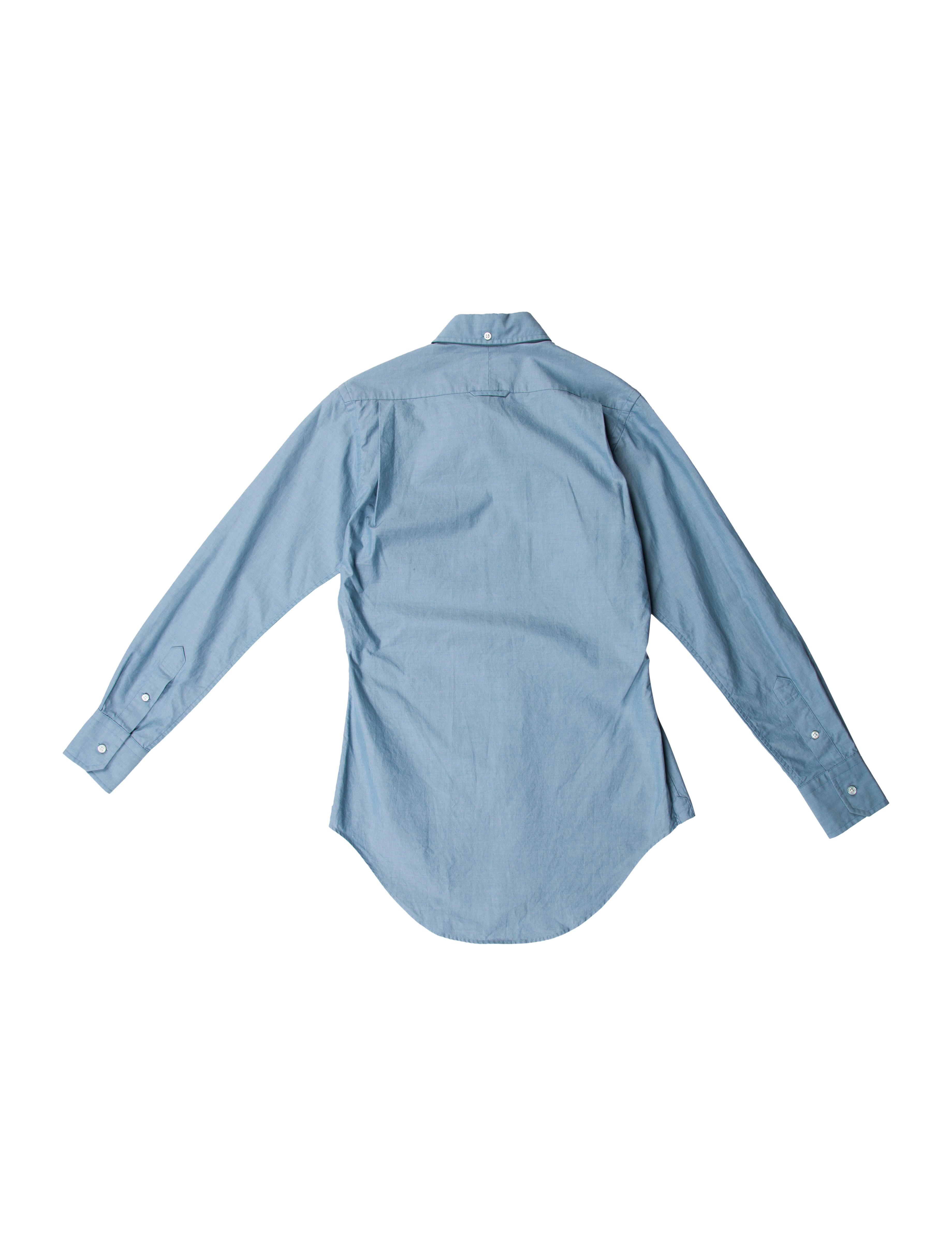 Thom Browne Long Sleeve Button Up Shirt Clothing