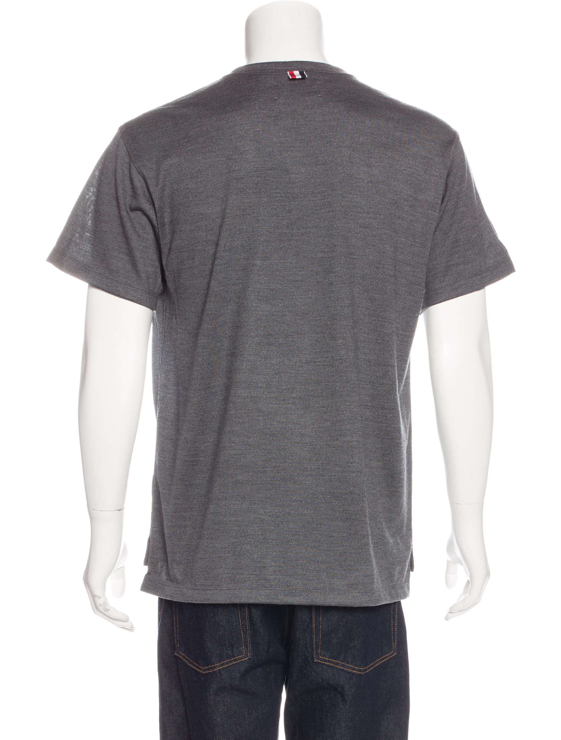 Thom browne crew neck short sleeve t shirt w tags for Thom browne t shirt