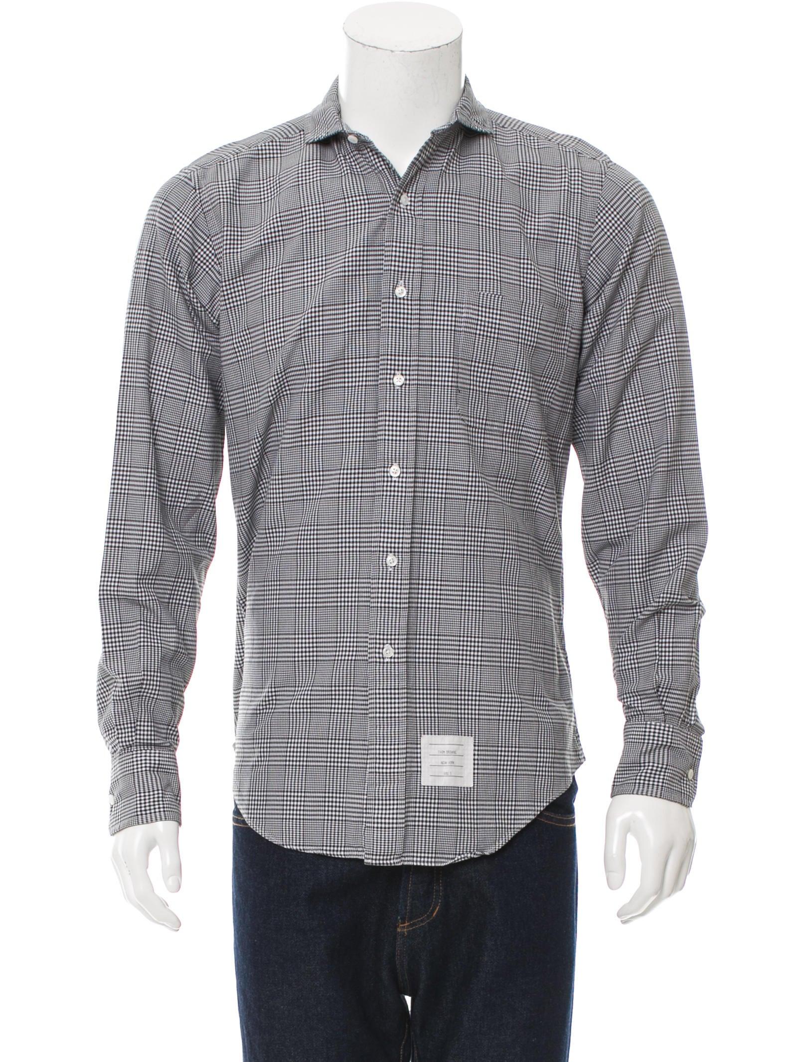 Thom browne plaid button up shirt clothing tho21790 for Thom browne shirt sale