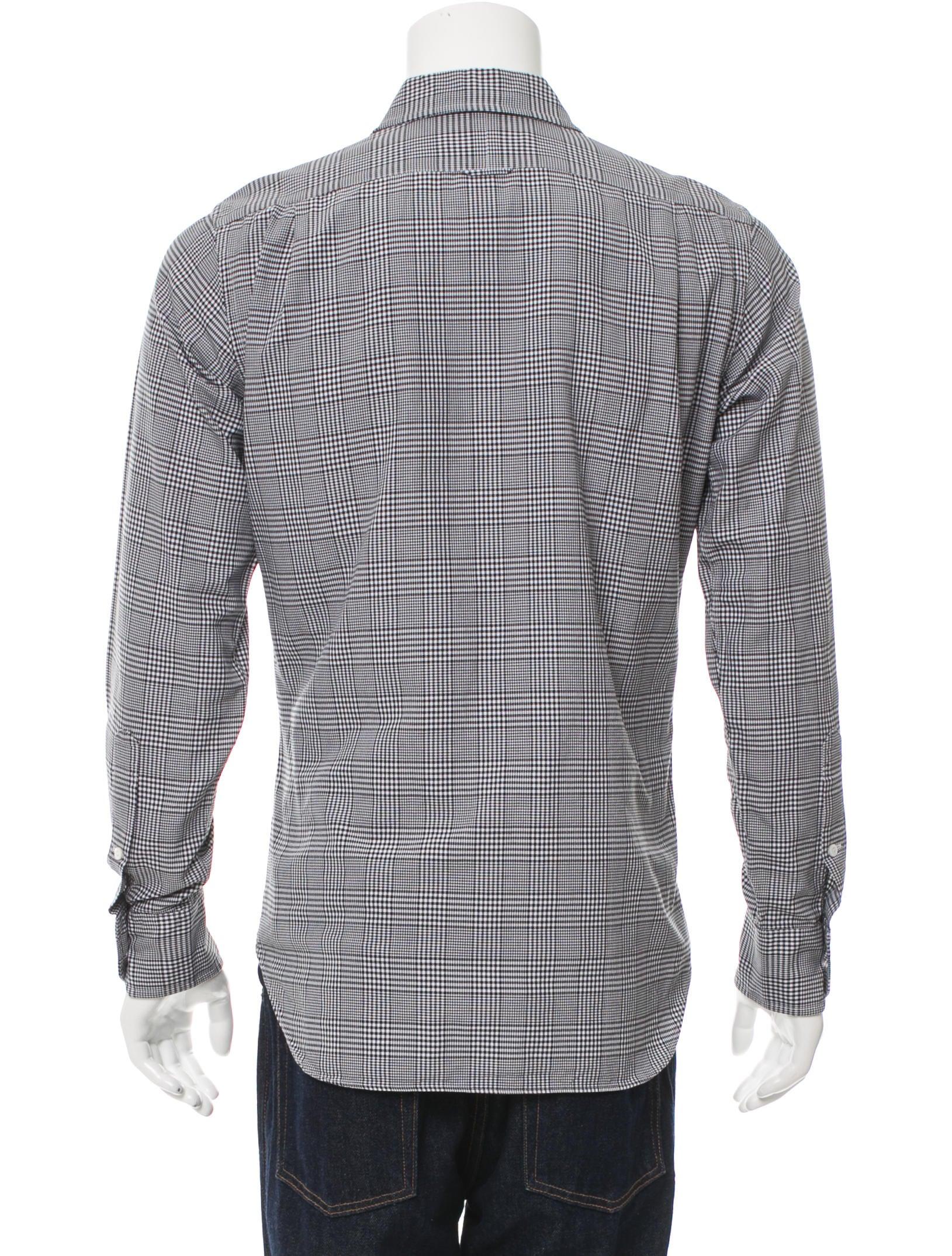 Thom browne plaid button up shirt clothing tho21790 for Thom browne white shirt