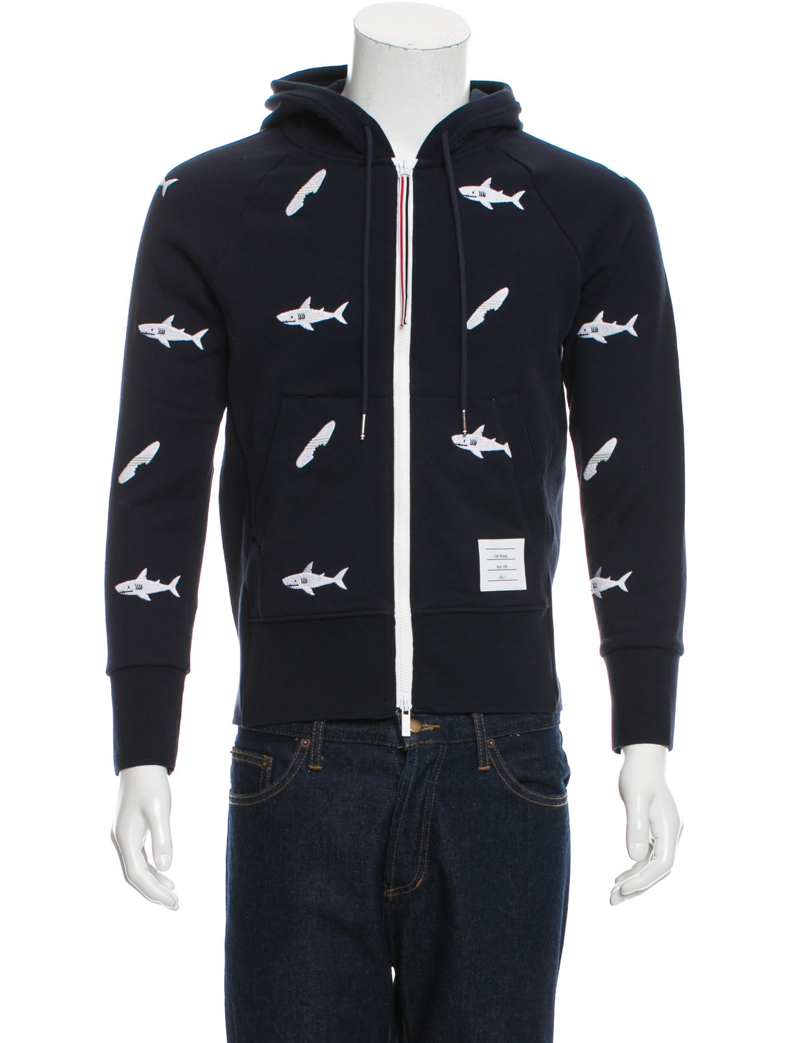 052e7d636b Thom Browne Shark & Surfboard Zip-Up Hoodie - Clothing - THO21837 ...