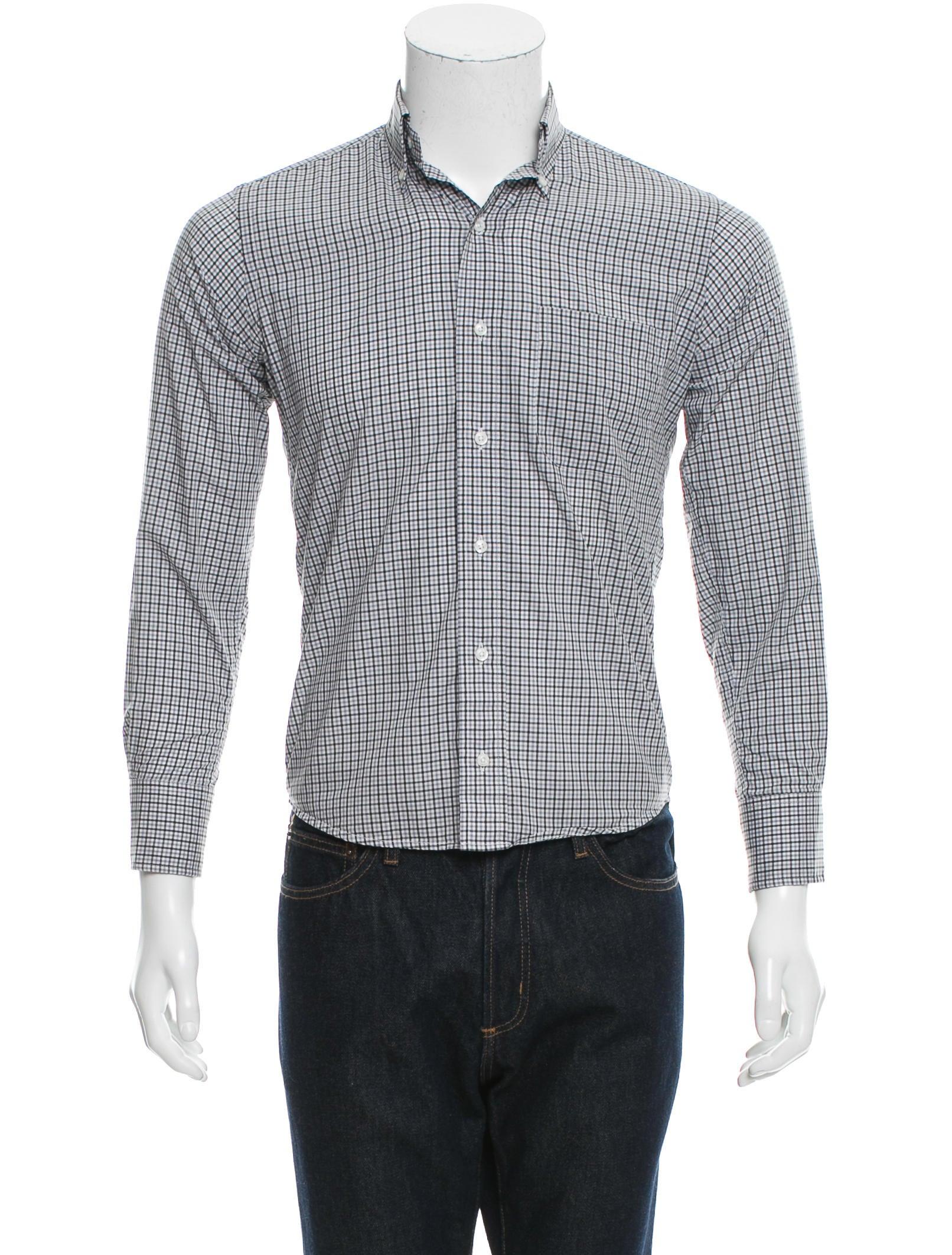 Thom browne plaid button up shirt clothing tho21861 for Thom browne shirt sale