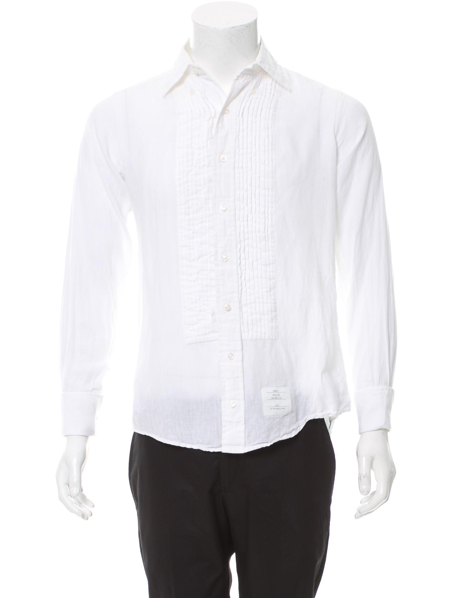 Thom browne french cuff tuxedo shirt clothing tho22063 for Tuxedo shirt french cuff