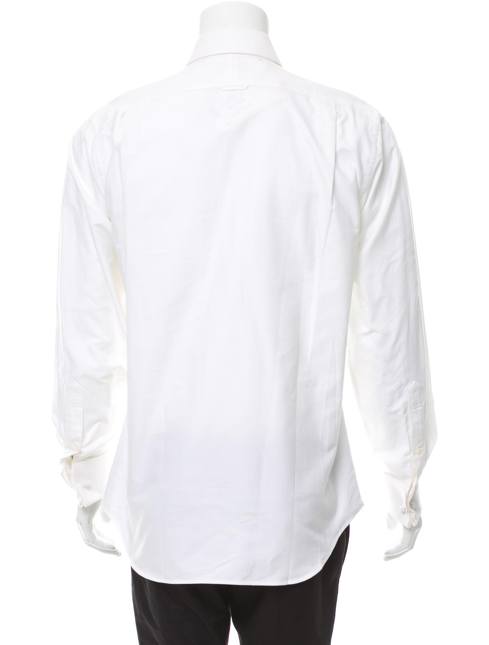 Thom browne french cuff tuxedo shirt clothing tho22069 for Tuxedo shirt french cuff