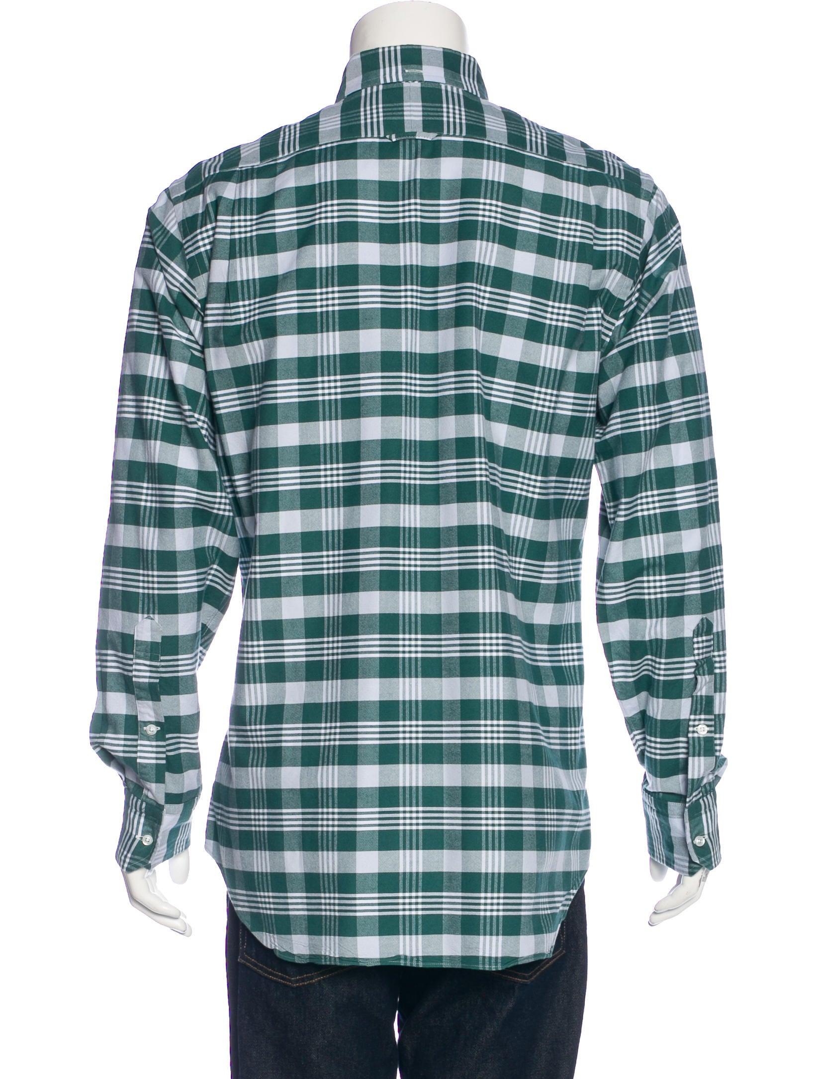 Thom browne plaid oxford shirt clothing tho22114 the for Thom browne shirt sale