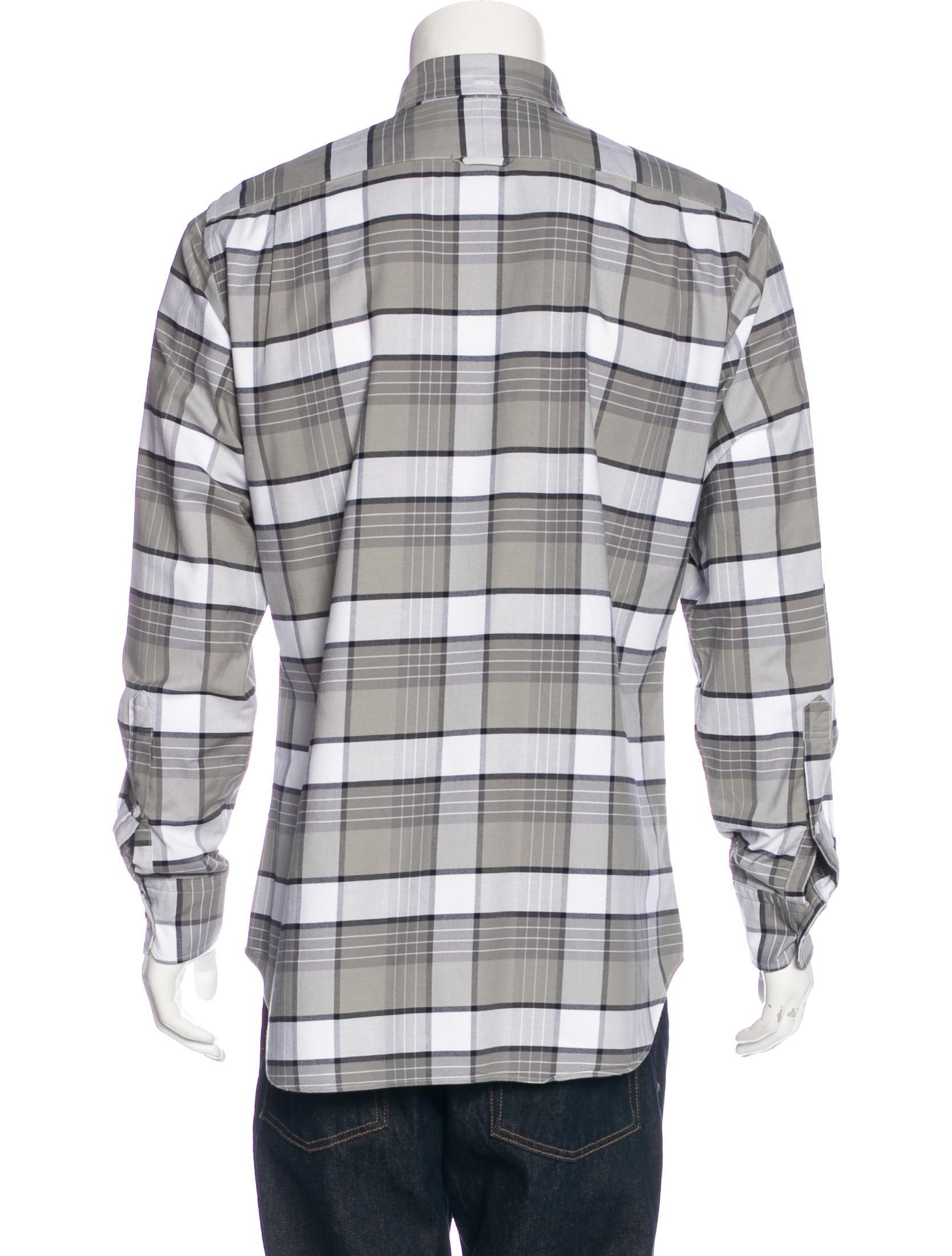 Thom browne plaid oxford shirt clothing tho22116 the for Thom browne shirt sale