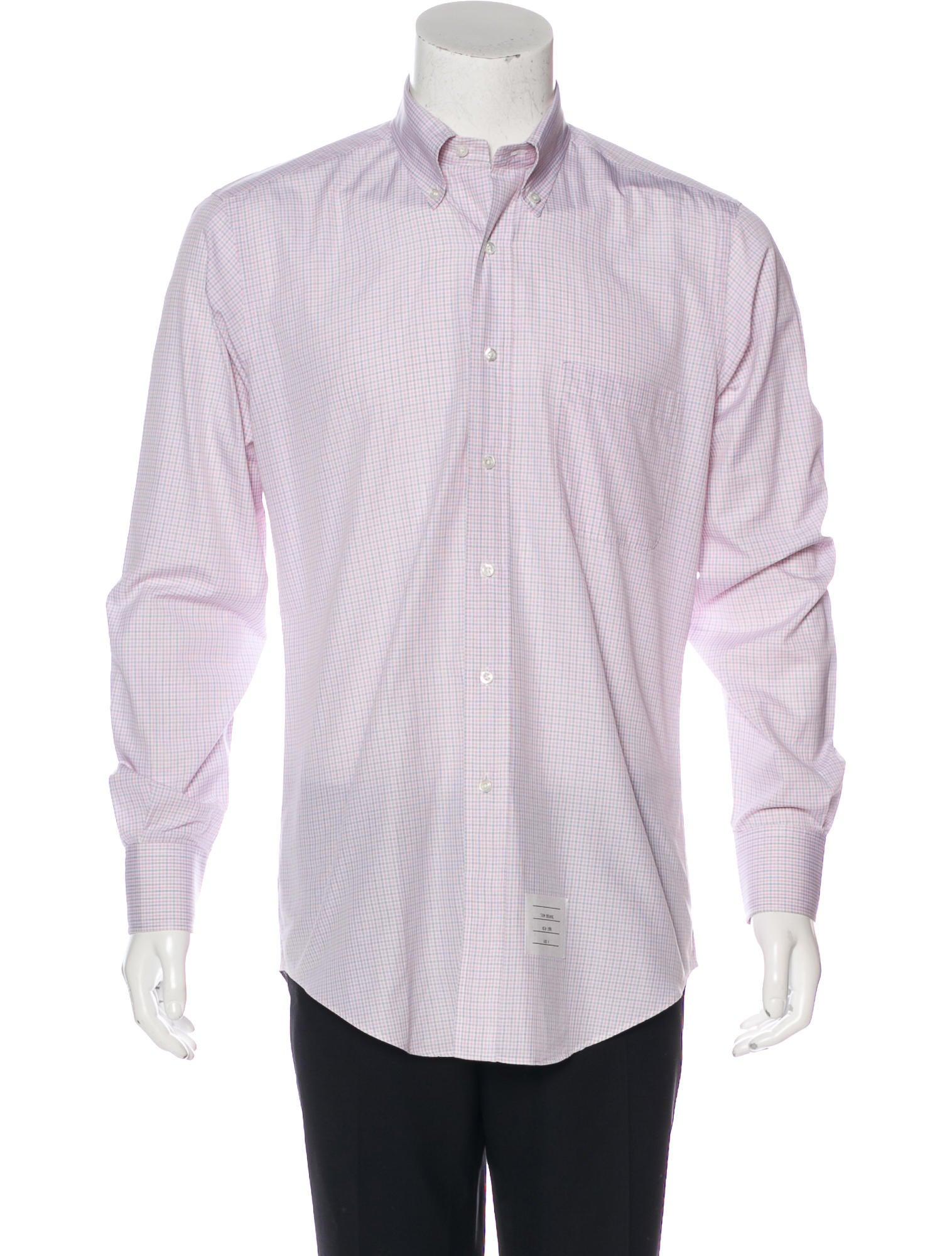 Thom browne plaid dress shirt clothing tho22272 the for Thom browne shirt sale