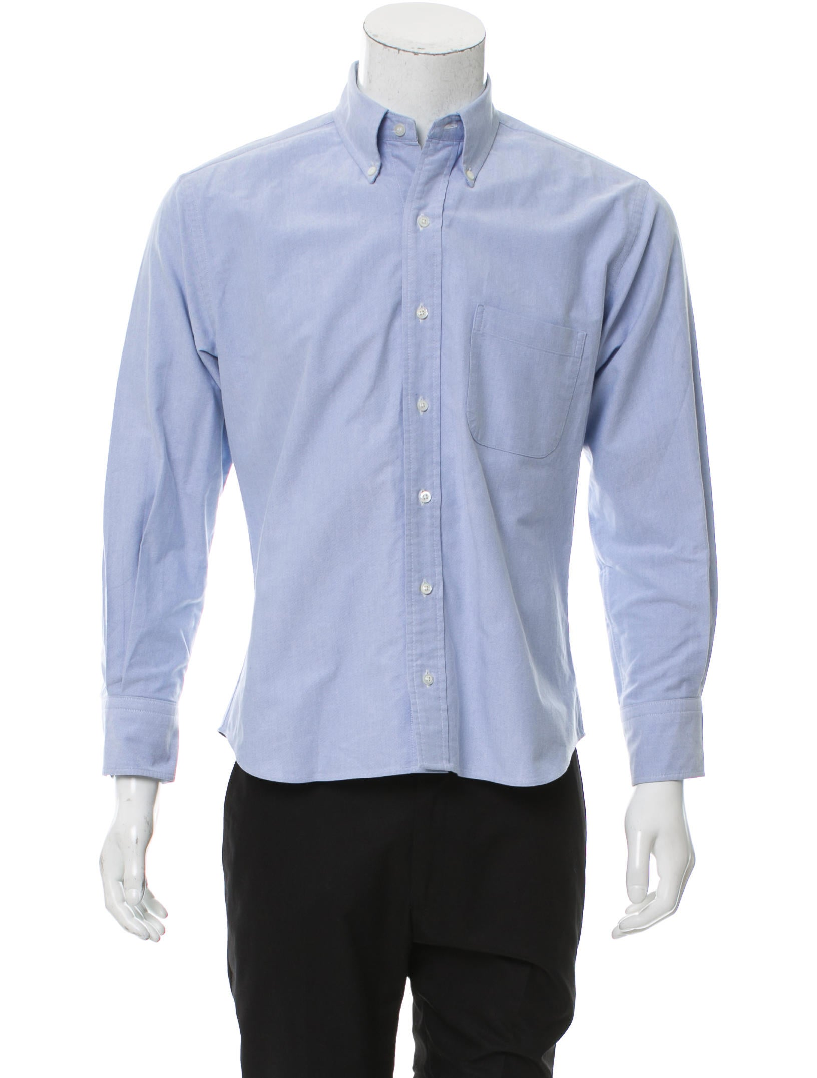 Thom Browne Point Collar Button Up Shirt Clothing