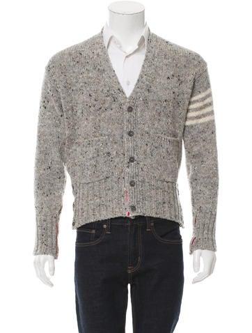 Thom Browne Wool Rib Knit Cardigan None