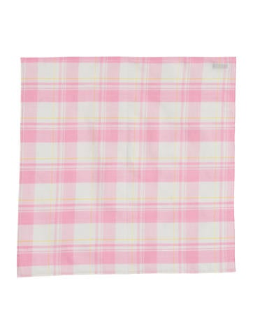 Thom Browne Plaid Linen Pocket Square None