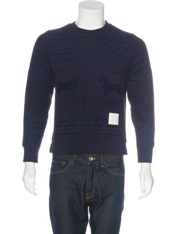 Thom Browne Hector Embroidered Sweatshirt None