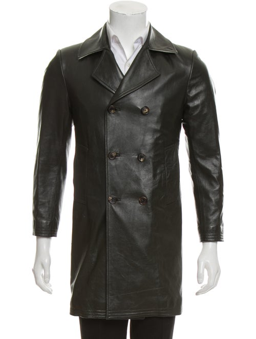 8aef2052d4 Thom Browne Double-Breasted Leather Jacket - Clothing - THO23572 ...