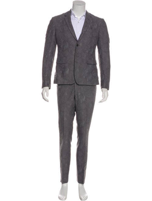 Thom Browne Woven Jacquard Two-Piece Suit Set grey