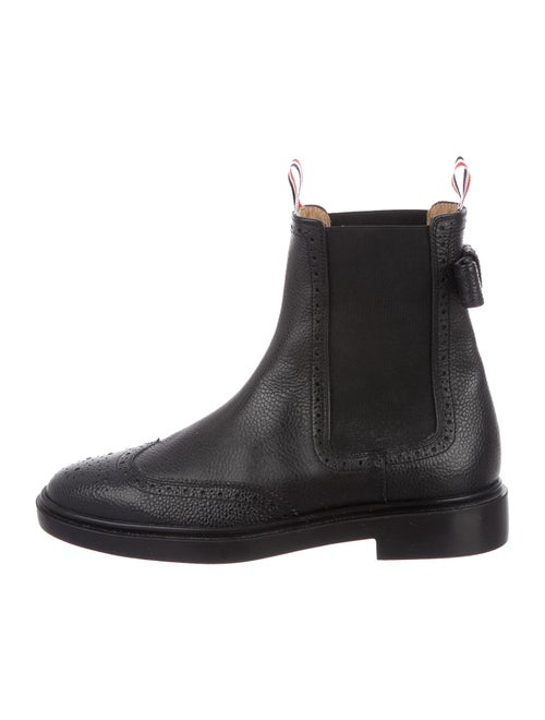 Thom Browne Leather Chelsea Boots Black