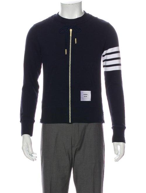 Thom Browne 4-bar Stripe Striped Sweatshirt Blue
