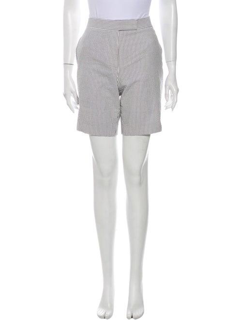Thom Browne Striped Knee-Length Shorts White