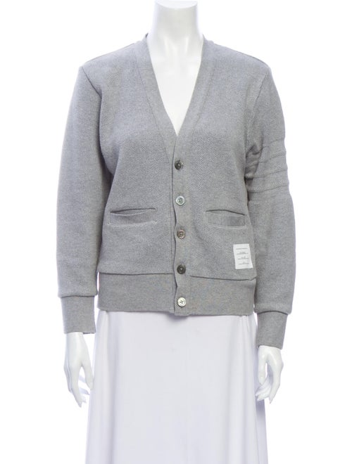 Thom Browne V-Neck Sweater Grey